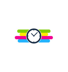 time paint logo icon design vector image