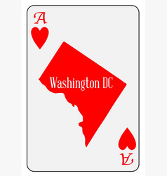 Usa playing card ace hearts vector