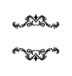 Vignette decorative crest ornate flourish vector