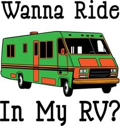 Wanna ride vector