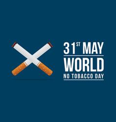 World no tobacco day background vector