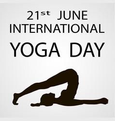 yoga day vector image
