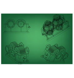 3d model of the reducer vector image
