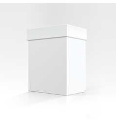 Blank Rectangular box in Perspective for package vector image
