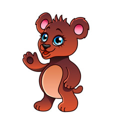 cartoon bear isolated vector image vector image