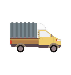 commercial delivery van cargo truck isolated on vector image vector image