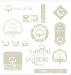 cotton icons vector image vector image