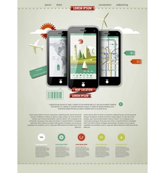 mobile phones infographics vector image vector image