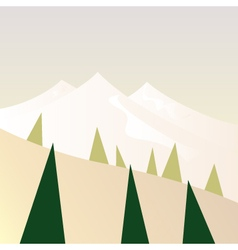Beautiful Mountains in retro style - retro vector image vector image