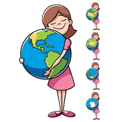 Child and Earth vector image vector image