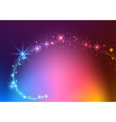 Colorful Sparkling Stream Effect vector image vector image