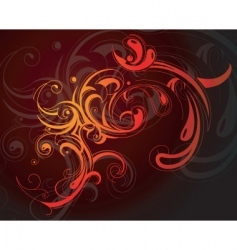 decorative background vector image vector image