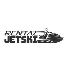 Jet ski rental logo badges and emblems isolated vector