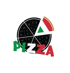 pizza food refreshment italy vector image vector image