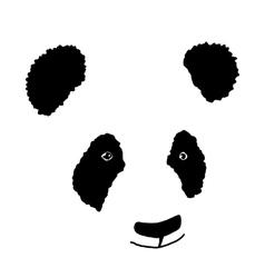 Simple hand drawn panda icon vector image