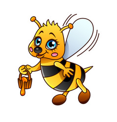 cartoon bee isolated vector image vector image
