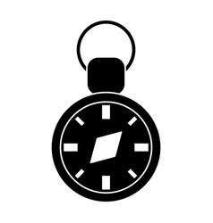 compass travel gps navigation pictogram vector image