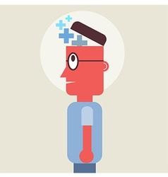 Head Plus Man vector image vector image