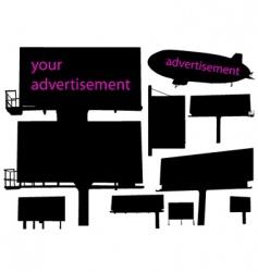outdoor advertisement vector image