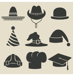 party hat icon vector image vector image
