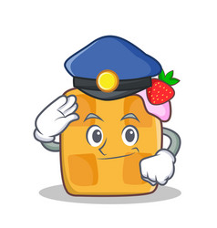 police waffle character cartoon design vector image