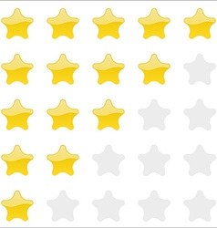 Rating stars panel Customer review vote navigation vector image vector image
