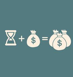 Time money more money profit concept vector