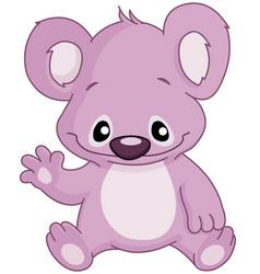 baby koala waving vector image vector image