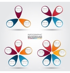 circle elements for infographic vector image vector image