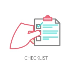 Line of a checklist vector image