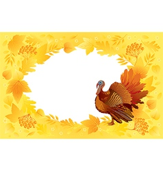 Thankgiving card with turkey vector image vector image