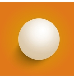 3D Ball Isolated on a Orange Background vector image