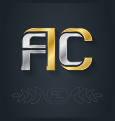 A and c - initials or logo ac - metallic 3d icon vector
