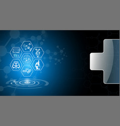 Abstract background design science and technology vector