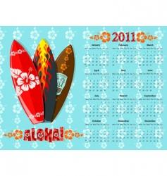 Aloha calendar 2011 vector