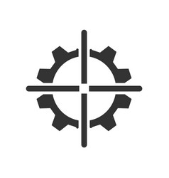 Aspirations target icon vector
