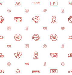 Assistance icons pattern seamless white background vector