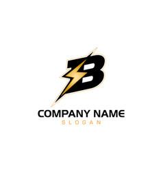 b bolt logo vector image
