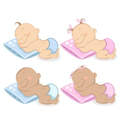 babies boy and girl vector image