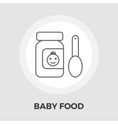 Baby Food Flat Icon vector