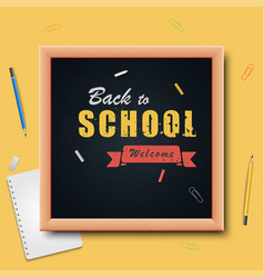 back to school on wood background vector image