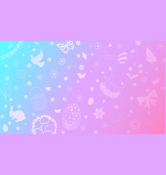 background easter symbols vector image