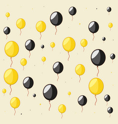 balloons helium air pattern vector image