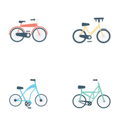 Bicycles flat icons vector