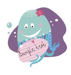 blue jellyfish vector image