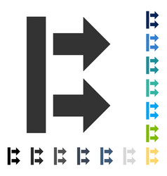 Bring right icon vector