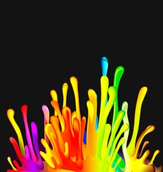 Colorful Drop Paint Splatter Background vector image