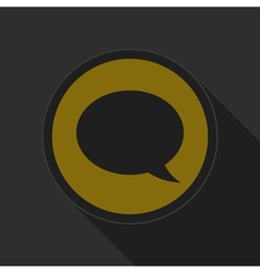 dark gray and yellow icon - speech bubble vector image