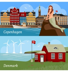 Denmark Flat Style Compositions vector