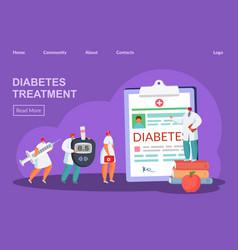 Diabetes treatment concept vector